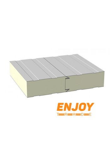 Стеновая сэндвич панель ППУ60 2х0,45 картон-картон