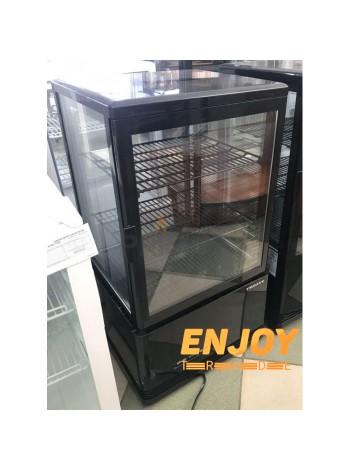 Холодильник вітрина для напоїв Frosty FL-58 чорна