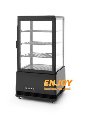 Холодильник вітрина для напоїв Frosty FL-78 чорна