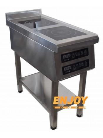 Индукционная плита двухконфорочная напольная