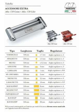 Лапшерезка-тестораскатка Marcato Atlas 150 mm
