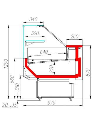 Холодильна вітрина Polus BXCр-2,0 Carboma GC95
